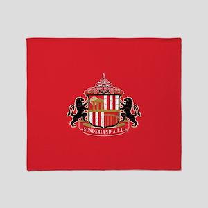 Vintage Sunderland AFC Crest Full Bl Throw Blanket