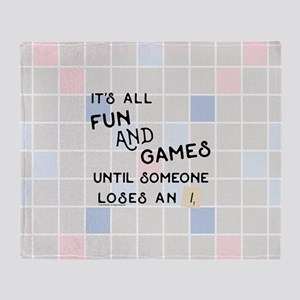 Scrabble All Fun and Games Throw Blanket