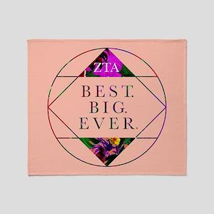 Zeta Tau Alpha Best Big Ever Throw Blanket