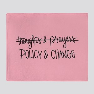 Policy & Change Throw Blanket