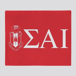 Sigma Alpha Iota Letters Crest Throw Blanket