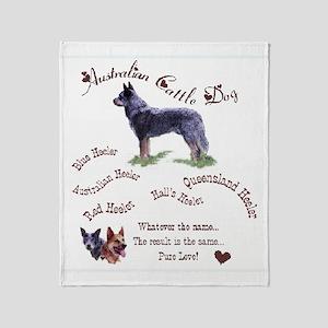 Austalian Cattle Dog Throw Blanket