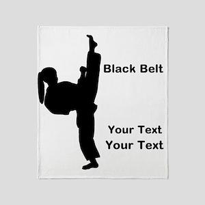 Black Belt Kick Throw Blanket