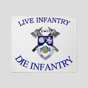 1st Bn 23rd Infantry cap4 Throw Blanket