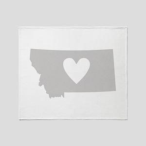 Heart Montana Throw Blanket