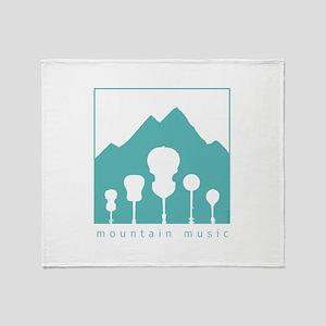 Mountain Music Throw Blanket