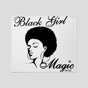 Black Girl Magic Throw Blanket