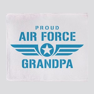 Proud Air Force Grandpa W Throw Blanket