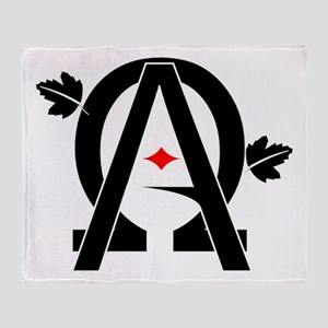 Alpha And Omega Combined Throw Blanket