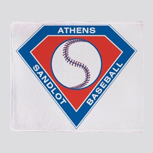 Athens Sandlot Logo Big Throw Blanket