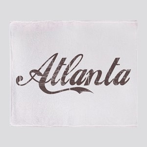 Vintage Atlanta Throw Blanket