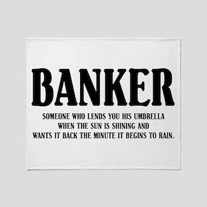 Funny Banker Throw Blanket