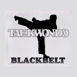 TaeKwonDo Black Belt Throw Blanket