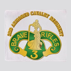 SSI - 3rd Armored Cavalry Rgt w Text Throw Blanket