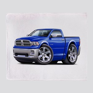 Ram Blue Truck Throw Blanket