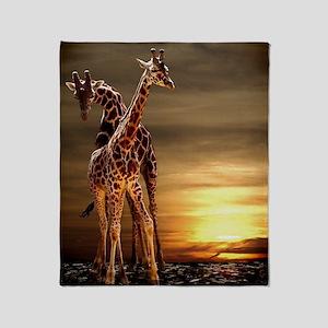 Giraffes Throw Blanket