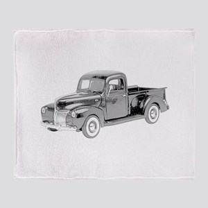Ford Pickup 1940 -colored Throw Blanket