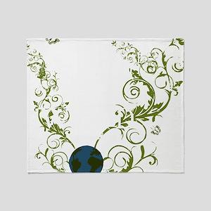 bethechange_earth_dark Throw Blanket