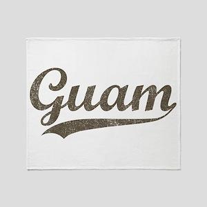 Vintage Guam Throw Blanket