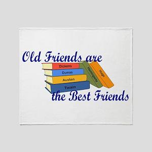 Books Best Friends Throw Blanket