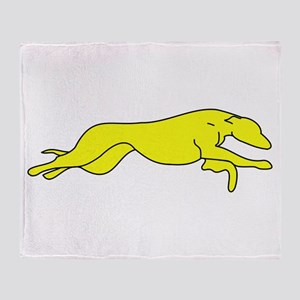 Greyhound Outline multi color Throw Blanket