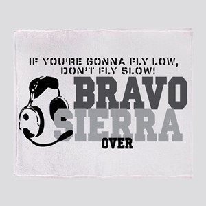Bravo Sierra Avaition Humor Throw Blanket