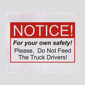 Notice / Truck Throw Blanket