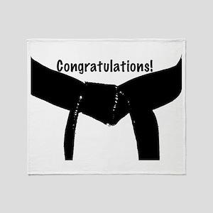 Black Belt Congrats Throw Blanket