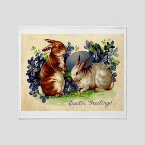 """Easter Bunnies"" Throw Blanket"