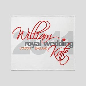 William & Kate Wedding Throw Blanket
