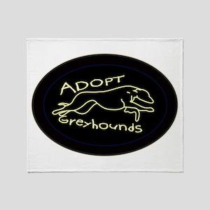 More Greyhound Logos Throw Blanket