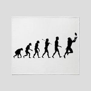 Evolution of Football Throw Blanket