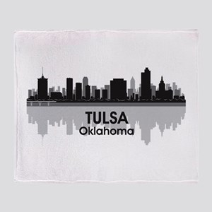 Tulsa Skyline Throw Blanket