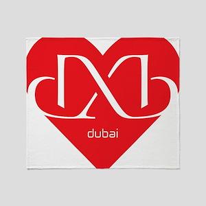 Heart Dubai Throw Blanket