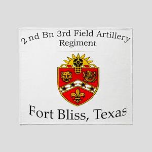 2nd Bn 3rd FA Throw Blanket