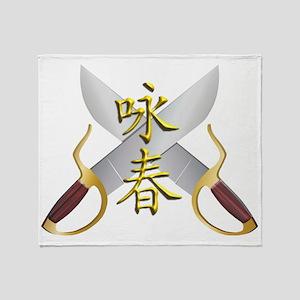 Wing Chun Bart Cham Do Throw Blanket
