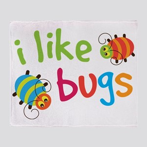 I Like Bugs Kids Throw Blanket