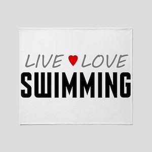 Live Love Swimming Stadium Blanket
