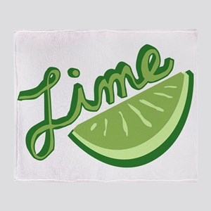 Cute Lime Slice Throw Blanket