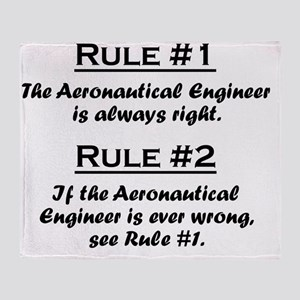 Rule Aeronautical Engineer Throw Blanket