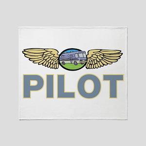 RV Pilot Throw Blanket