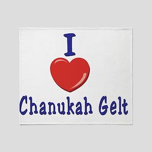 I Love Chanukah Gelt Throw Blanket