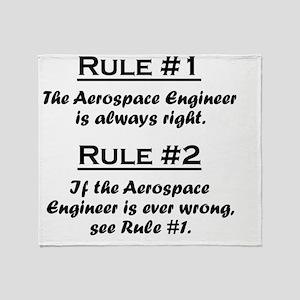 Rule Aerospace Engineer Throw Blanket