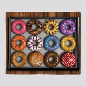 Box of Doughnuts Throw Blanket