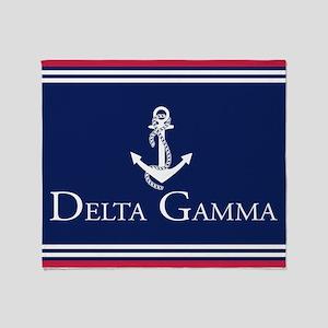 Delta Gamma Anchor Throw Throw Blanket