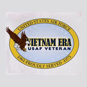 Vietnam Era Vet USAF Throw Blanket
