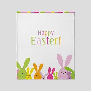 Easter Rabbits Throw Blanket