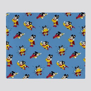 Mighty Mouse Pattern Throw Blanket