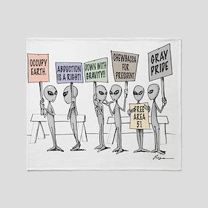 Alien Protestors Throw Blanket
