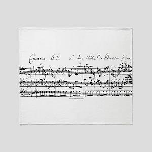Bach's Brandenburg 6 Concerto Throw Blanket